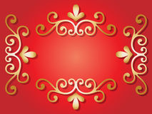 Java floral ornament  frame Royalty Free Stock Photos