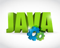 Java gear text sign illustration design Royalty Free Stock Photo