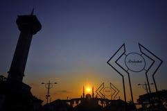 Java Grand Mosque centrale fotografia stock