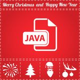 JAVA Icon Vector Image stock
