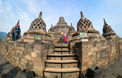 The temple of Borobudur on Java in Indonesia Stock Image