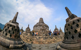 The temple of Borobudur on Java in Indonesia Stock Images