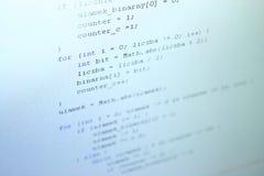 Java kod Arkivbilder