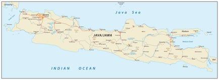 Java map, Indonesia Stock Photos