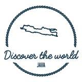 Java Map Outline Le vintage découvrent le monde Photos stock