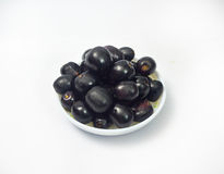 Java Plum On White Background Photographie stock