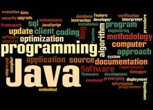 Java programmant, concept 9 de nuage de mot Photo libre de droits