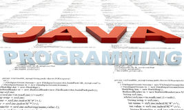Java Programming. Java Programm developmenet, source Code stock illustration