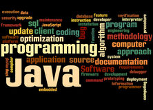 Java programming, word cloud concept 9 Royalty Free Stock Photo