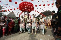 Java Puppet Figure en desfile lunar del Año Nuevo Fotografía de archivo libre de regalías