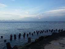 Java Sea sul imagem de stock