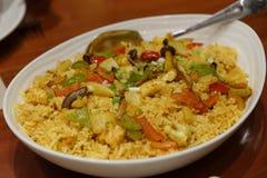Java seafood fried rice. Filipino style java seafood fried rice Royalty Free Stock Photos