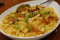 Java seafood fried rice. Filipino style java seafood fried rice Stock Photos