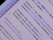 Java-skrift i redaktör Arkivfoto