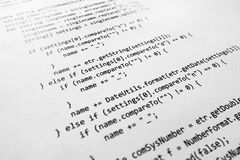 Java source code Stock Images