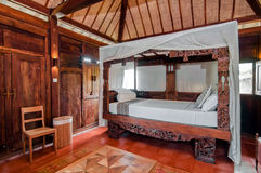 Java Style Bedroom de madeira imagens de stock royalty free