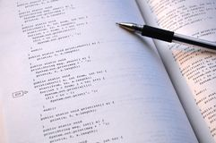 A java textbook Stock Photo