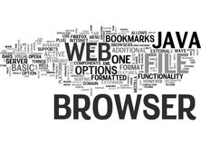 Java Web Browser Text Background  Word Cloud Concept Stock Images