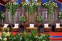 Java wedding decoration - dekorasi pernikahan jawa. Dekorasi pernikahan adat jawa / traditional weddding decoration from java Stock Photos