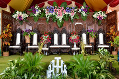 Java wedding decoration - dekorasi pernikahan jawa Stock Photo