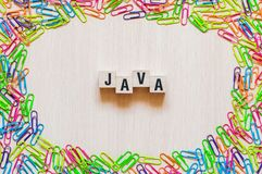 Java word concept stock images