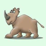Javan rhinoceros cartoon  Royalty Free Stock Images