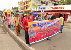 Javanese central na arte e no festival cultural 2017 fotografia de stock