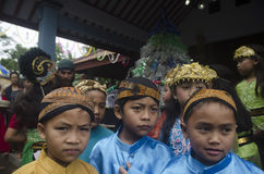 JAVANESE CHRISTIAN TRADITIONAL RITUAL Stock Images