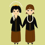 Javanese Couple on Traditional Wedding Dress Royalty Free Stock Images