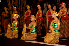 Javanese cultural performances Royalty Free Stock Photo