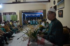 JAVANESE ISLAM WEDDING COMMUNAL FEAST Stock Photography