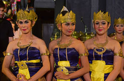 Javanese ladies in traditional attire known as Dhodot Royalty Free Stock Images