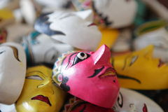 Javanese mask. Colorfull javabese masc, jogjakarta, indoneia stock photo