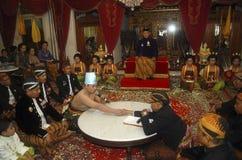 JAVANESE ROYAL WEDDING Royalty Free Stock Photo