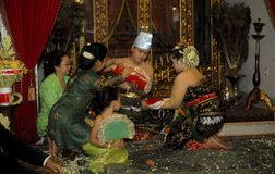 JAVANESE ROYAL WEDDING Royalty Free Stock Photography