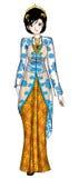Javanese Traditional Costume. Indonesian Javanese woman in traditional costume Royalty Free Stock Photography