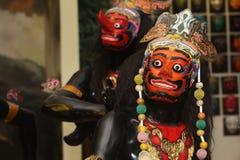 Javanese traditioneel marionettenmasker Stock Foto's