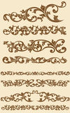 Javanese Vintage Floral Ornament Set 1 Royalty Free Stock Photos