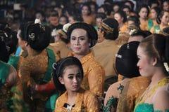 Javanese Wayang Kulit (skuggadockan) Arkivfoto