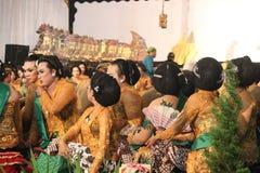 Javanese Wayang Kulit (skuggadockan) Arkivbilder