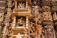 Javari Świątynne antyczne ruiny w khajuraho, India zdjęcia royalty free