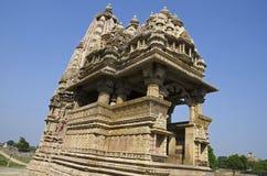 JAVARI TEMPLE, Facade - South East View, Eastern Group, Khajuraho, Madhya Pradesh, UNESCO World Heritage Site stock image