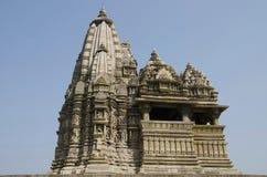JAVARI TEMPLE, Facade - South View, Eastern Group, Khajuraho, Madhya Pradesh, UNESCO World Heritage Site stock photo