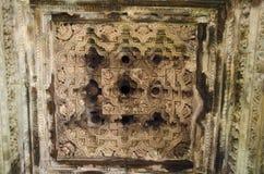 JAVARI TEMPLE, Mandapa - Ceiling, Eastern Group, Khajuraho, Madhya Pradesh, UNESCO World Heritage Site stock photos