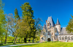 Javarzay Castle in Chef-Boutonne - Deux-Sevres, France. Built in 1514 in the Renaissance style, it is now a municipally-owned historic monument Royalty Free Stock Images