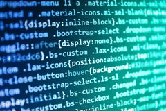 Javascript code in bracket software. Search engine optimization for better rankings with anchor tags Royalty Free Stock Image