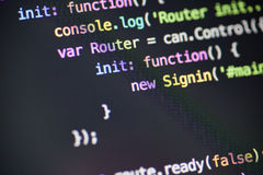 Javascript code lines Stock Photography