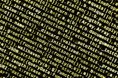 JavaScript code in text editor. Coding cyberspace concept. Screen of web developing code. JavaScript code in text editor. Coding cyberspace concept. Screen of stock images
