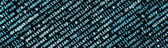 JavaScript code in text editor. Coding cyberspace concept. Screen of web developing code. JavaScript code in text editor. Coding cyberspace concept. Screen of stock photos