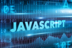 Javascript concept. Blue background with blue text Stock Photo